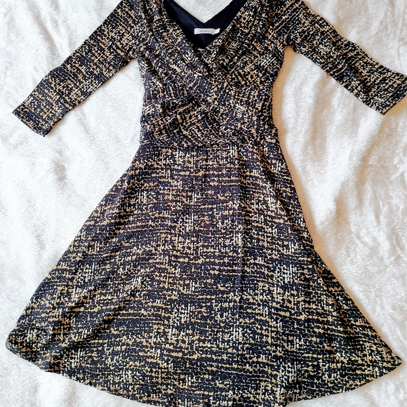 Rickys Brown long sleeve fitted dress